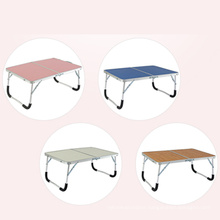 Small portable folding camping table for picnic and indoor aluminium folding laptop table