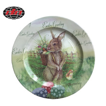 Plastic Charger Plate with Easter Printing