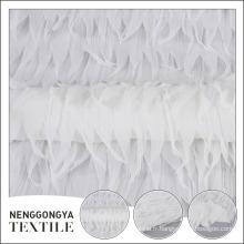 Usine fournisseur 100% polyester robe de mariée en maille tissu avec gland