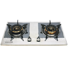 2 Burner Color Coated Stainless Steel Panel Gas Stove
