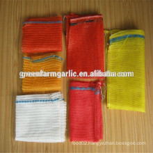 china PE raschel mesh sleeve fruit bag