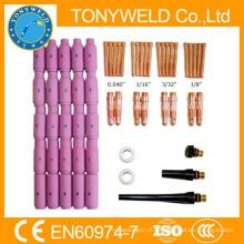 58 piezas wp18 / wp17 / wp26 tig soldadura antorchas piezas kits