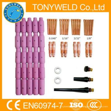 58 штук wp18 /wp17/wp26 TIG сварки частей горелки комплекты