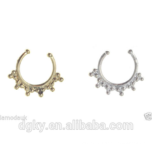 Ladies sunshine barbell faux septum ring