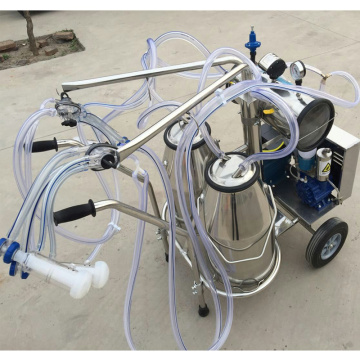 Double buckets high quality milking machine