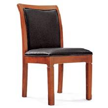 Massivholz-Antike-echtes Leder-Abdeckungs-Konferenz-Stuhl