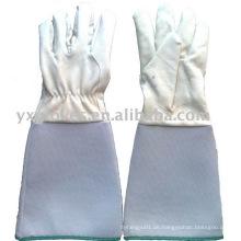 Handschuh mit langen Ärmeln Handschuh mit Volllederhandschuhe aus Leder