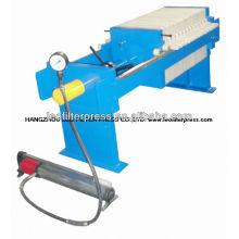 Petite presse manuelle manuelle hydraulique de filtre de chambre d'opération, petite presse de filtre de chambre