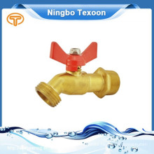 brass ball valve with hose end T handle garden faucet