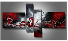 Modern Framed Abstract Oil Painting Reproduction on Canvas (XD4-020)
