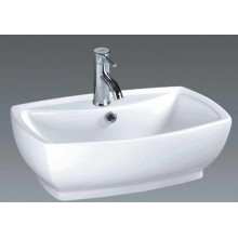 Competitive Price Bathroom Ceramic Art Basin (7534B)