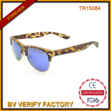 Половина ОПРАВЫ Tr90 солнце очки с голубой линзы Tr15084