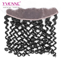Italian Curly Peruvian Virgin Hair Lace Frontal