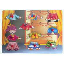 Pädagogische Hölzerne Puzzle Hölzerne Spielzeug