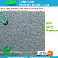Epoxy Polyester Blauw Grijs Hammer Tone Powder Coating Paint