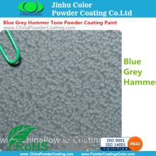 Epoxy Polyester Blue Grey Hammer Tone Powder Coating Paint