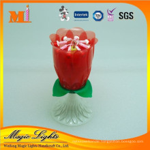 High Quantity Factory Supplies Romantic Blooming Singing Music Candle