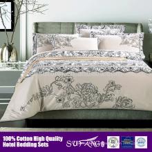 ensemble de couverture de couette de coton écologique / couvre-lits d'hôtel / fournisseur d'hôtel 5 étoiles