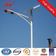Poteau d'éclairage en acier galvanisé de rue de bras simple de 7m