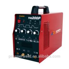 DC inversor tig & mma máquina de soldadura por impulsos TIG200P