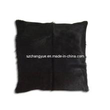 Almofadas de couro natural do remendo do couro