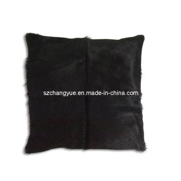 Almohadas de remiendo de piel de vaca de cuero natural