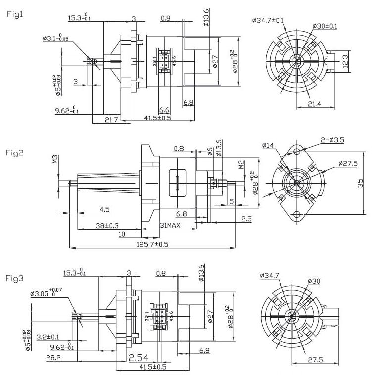 24 V PM stepper motors 28mm frame size / nema stepping motor