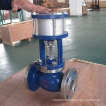 China fez baixo preço de alta qualidade pneumática operado válvula de globo de aço de fundição 150lb