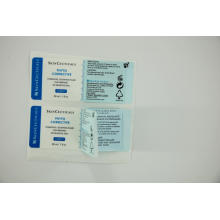 Custom printable label sticker clear print
