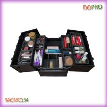 Alle schwarze Farbe harte Seite Aluminium Kosmetik Fall (SACMC134)