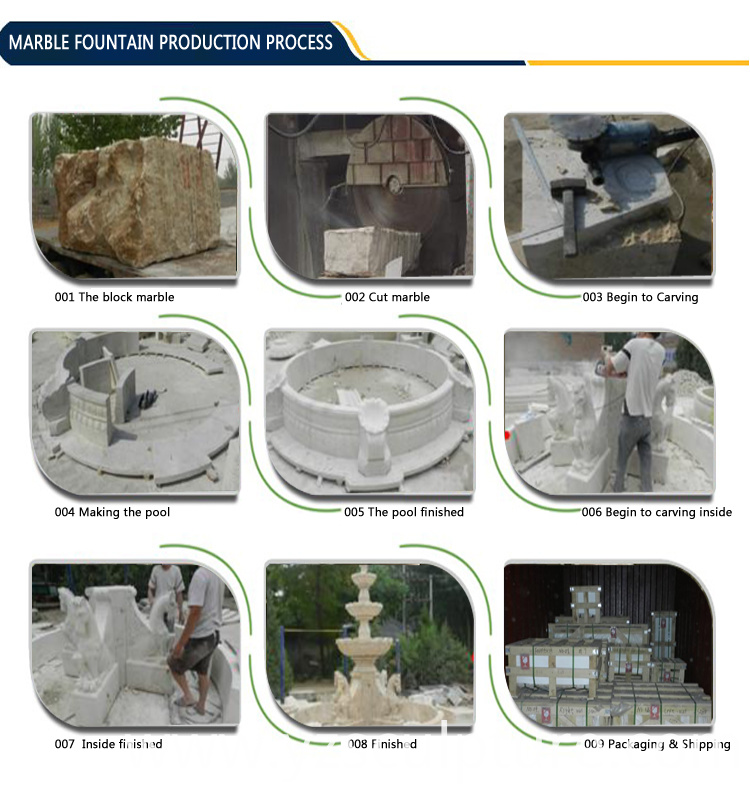 large marble water fountain