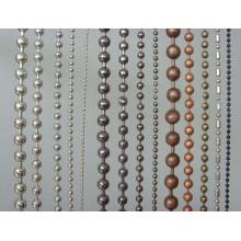 Metal bola cadena de pantalla de cobre cadena de bolas rebordeado cortina
