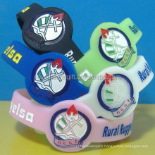 Customized Watch Shape Silicone Wristbands/Silicone Wristbands