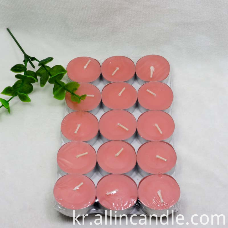 color tealight candle