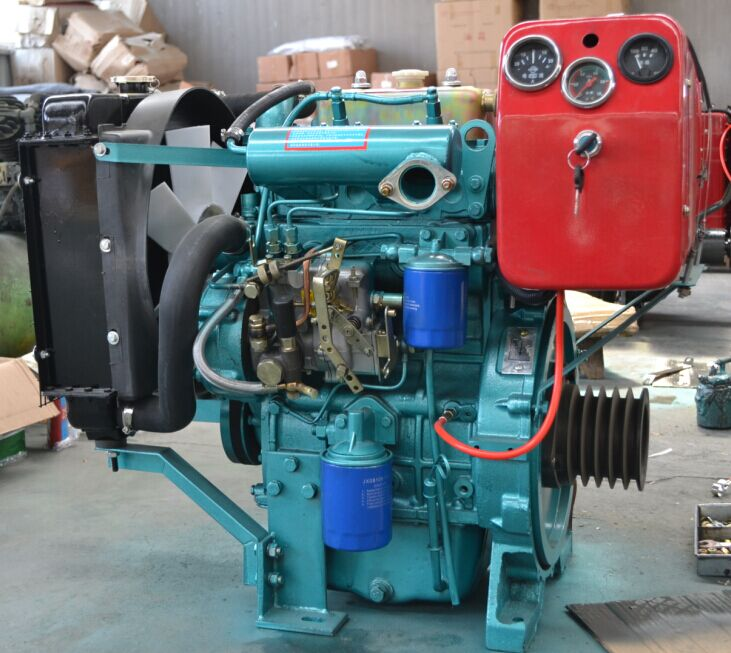 2 Cylinder Water Cooled Small Output Diesel Engine