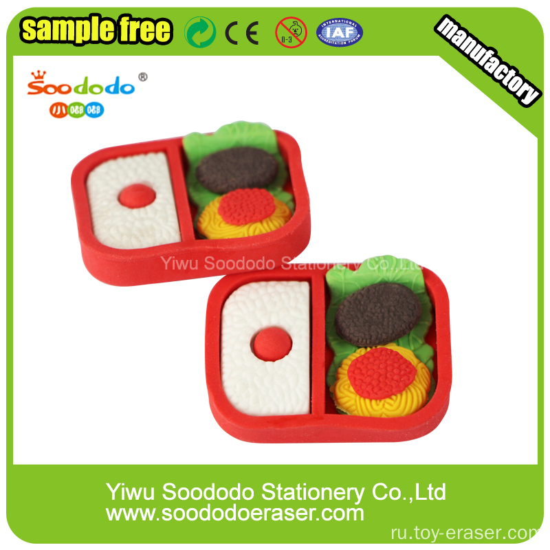 Promotion 3d eraser stationery product,School Supply Cheap Erasers
