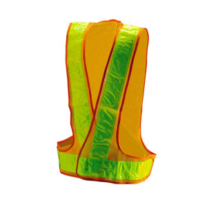 Customized workwear vest with PVC reflective tape