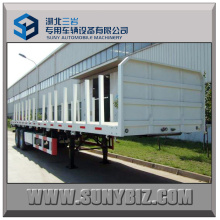 30t ~ 50t 2axles Flatbed Log Semi Trailer