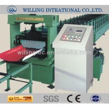 Mading in China Hydraulische galvalume Stahl glasierte Fliese Metall Dach Ridge Cap Roll Forming Machine