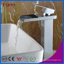 Fyeer High Body Channel Spout Waterfall Water Faucet for Washbasin