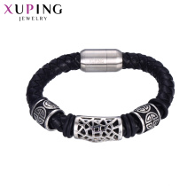 bracelet-63 wholesale leather mens jewelry  braclets men Stainless Steel bracelet
