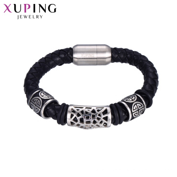bracelet-63 en gros hommes en cuir bijoux braclets hommes bracelet en acier inoxydable