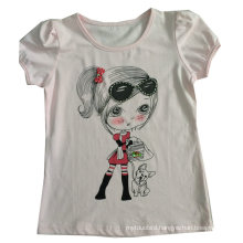 Fashion Lovely Girl Children′s T-Shirt in Kids Wear Clothing Sgt-084