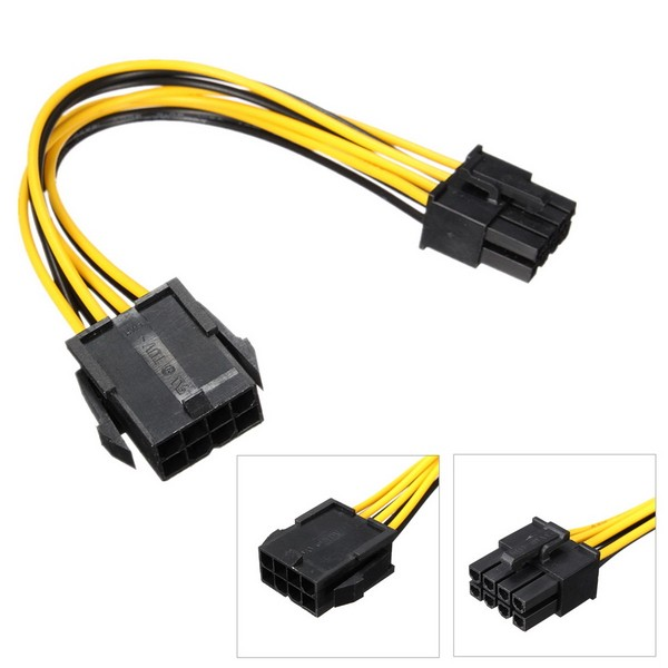 PCIE 8pin video card PCI EXPRESS power extension cable4