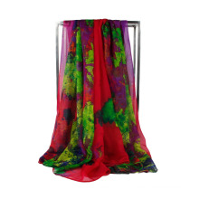 Vente en gros Écharpe en mousseline de soie 100% polyester en organza
