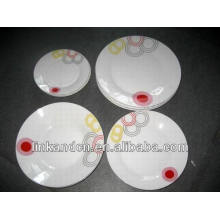 Haonai 16pcs round ethnic porcelain dinner set