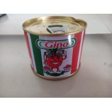 Pâte de tomate en conserve 210g avec haute qualité