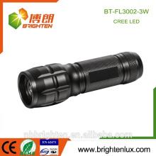 Fabrik Versorgung Notfall Verwendung Aluminium Material 3 * aaa CE ROHs High Power Beste Cree 3watt Dimmer Zoom Super Taschenlampe