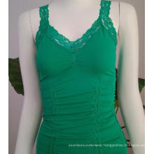 More Stretch Seamless lace straps tops for ladies