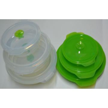 2015 food grade gros boîte à Lunch Silicone pliable